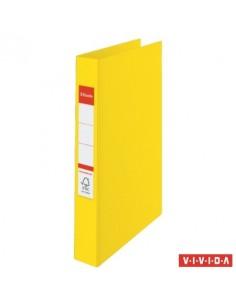 """Gyûrûs könyv, 2 gyûrû, 42 mm, A4, PP, ESSELTE """"Standard"""", Vivida sárga"""