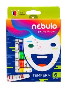 Tempera készlet, 6 darabos, NEBULO