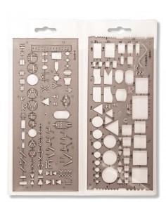 Elektronikai sablon, mûanyag, KOH-I-NOOR