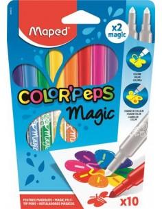 """Filctoll készlet, 3,6 mm, MAPED """"Color`Peps Magic"""", 8+2"""