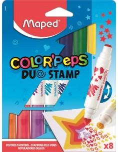 "Filctoll készlet, 7,5 mm, kétvégű, MAPED ""Color`Peps Duo Stamp"""