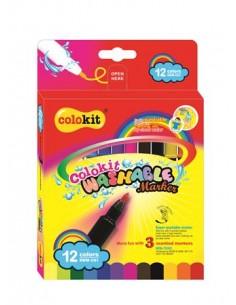 """Filctoll készlet, kimosható, COLOKIT """"Washable Markers"""" 12"""