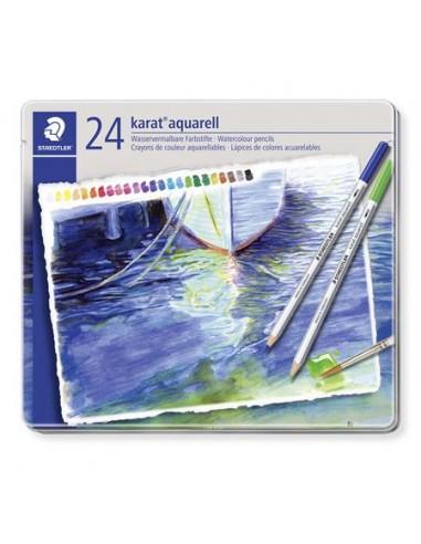 Akvarell ceruza készlet, fém doboz,...