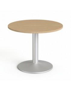 Tárgyalóasztal, kör, szürke...