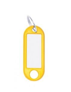 Kulcscímke, 10 db, WEDO sárga