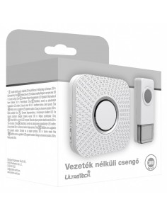 VEZETÉK NÉLKÜLI CSENGŐ VÍZÁLLÓ 300M IP55 ULTRATECH WD121