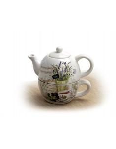 Teáskanna és csésze készlet